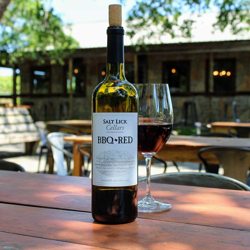 Salt Lick Cellars Wine Garden In Driftwood Texas Next To